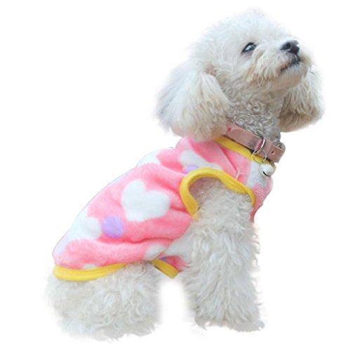 AIMTOPPY Fashion Pet Cat Dog Villus Clothes Winter Vest Jacket Apparel Costume