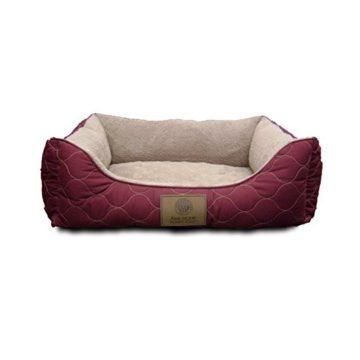 American Kennel Club Orthopedic Circle Stitch Cuddler Pet Bed Burgundy