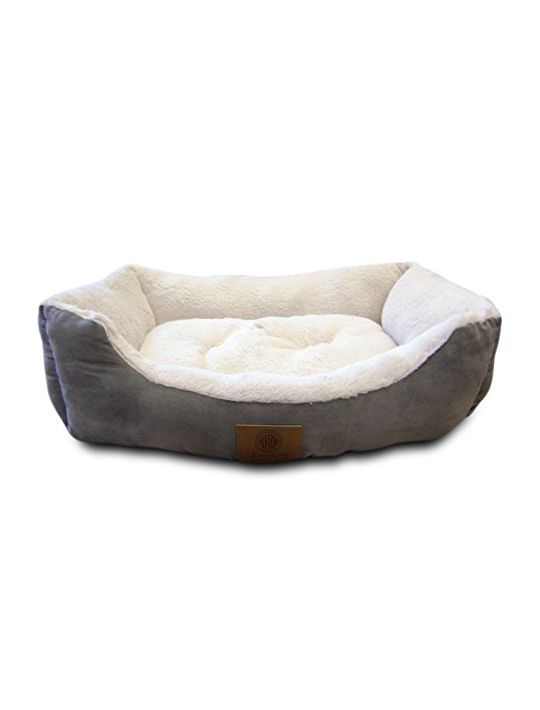 American Kennel Club Suede Cuddler Solid Pet Bed Large Gray