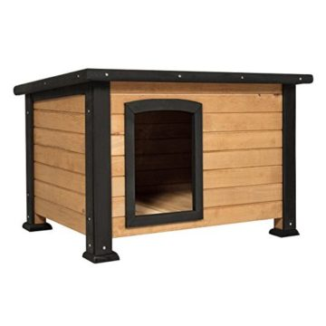 Best Choice Products Wooden Outback Cabin Dog House Pet Shelter Small
