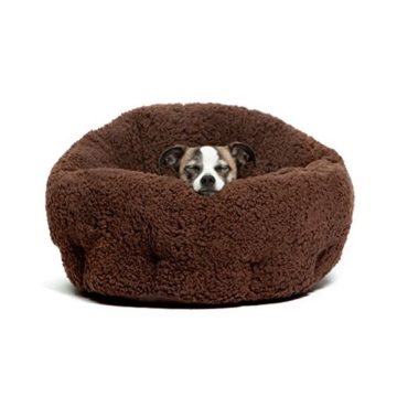 Best Friends by Sheri OrthoComfort Deep Dish Cuddler in Sherpa Brown 20″x20″x12″
