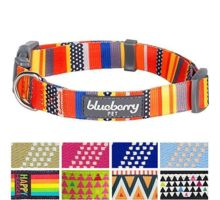 Blueberry Pet Nautical Flags Inspired Designer Basic Dog Collar Neck 145″20″ Medium Collars for Dogs
