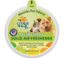 Citrus Magic Pet Odor Absorbing Solid Air Freshener Fresh Citrus 8Ounce