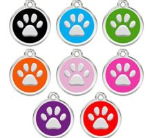CNATTAGS Stainless Steel with Enamel Pet ID Tags Personalized