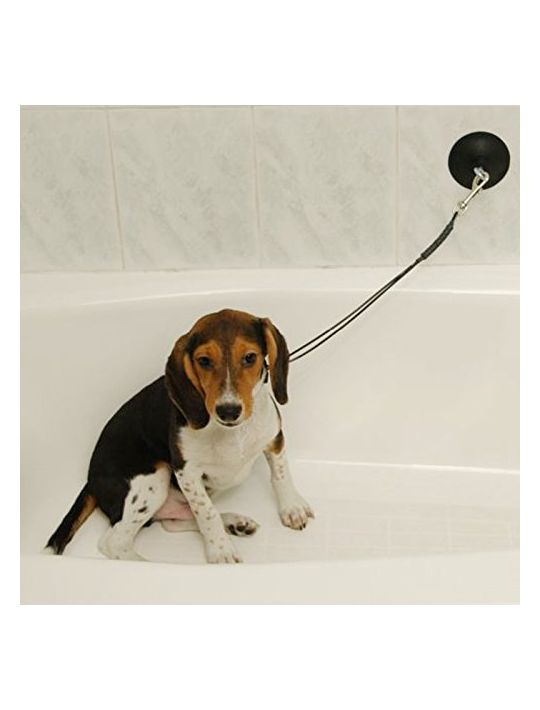 Dog Grooming StayNWash Tub Restraint Keeps Dog in Tub