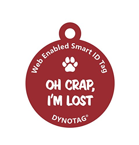 Dynotag Web GPS Enabled QR Code Smart Deluxe Coated Steel Pet Tag