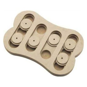 Ethical Pet Interactive SeekATreat Shuffle Bone Dog Toy Puzzle that will improve your dog IQ Specially designed for dog training treats