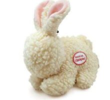 Ethical Pets Fleece Rabbit squeak Dog and Cat Toy 9Inch Durable pet toys