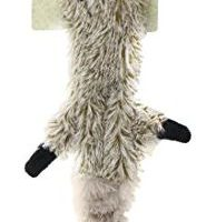 Ethical Pets Mini Skinneeez Raccoon 14Inch Stuffingless durable squeaker Dog and Cat Toy