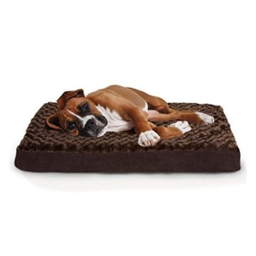 Furhaven Orthopedic Mattress Pet Bed Large Chocolate for Dogs and Cats