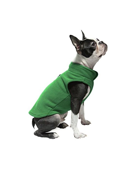Gooby Every Day Fleece Cold Weather Dog Vest for Small Dogs Green Medium