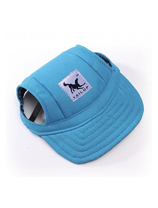 Happy Hours  Fashion Small Pet Dog Cat Baseball Visor Sports Hat Cap Puppy Summer Baseball Outdoor Ear Holes Sunbonnet Outfit Elastic Leather Neck Strap 6 Colors 2 Sizes Available