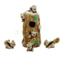 Hide a Squirrel Fun Hide and Seek Interactive Puzzle Plush Dog Toy by Outward Hound 7 Piece Ginormous