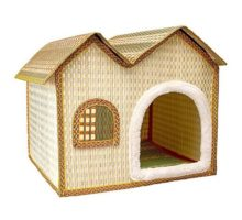 IZERUO Natural Bamboo Dog House Cave Shelter RetreatPortable Folding Kennel for CatKittyor Puppy in Summer Use