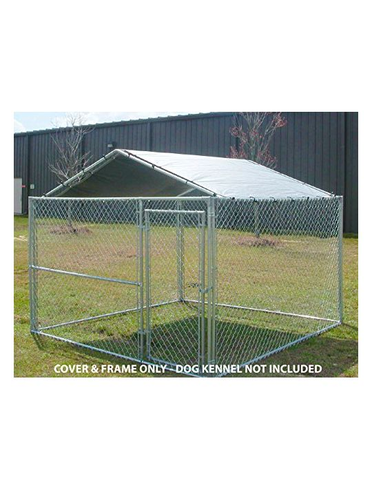 King Canopy Dog House Kennel Cover  10 by 10 Feet Silver