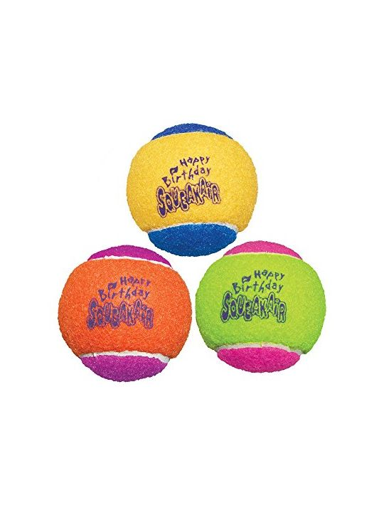 KONG Air Dog Squeakair Birthday Balls Dog Toy Medium Colors Vary