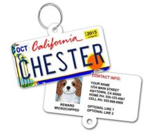 License Plate Custom Dog Tags for Pets  Personalized Pet ID Tags  Available For All 50 States  Dog Tags For Dogs  Dog ID Tag  Personalized Dog ID Tags  Cat ID Tags  With Pet Photo