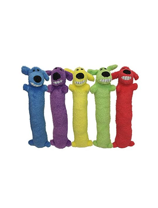 Loofa Dog 12″ Plush Dog Toy Colors May Vary