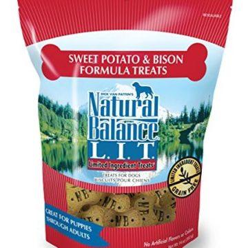 Natural Balance LIT Limited Ingredient Dog Treats Grain Free Sweet Potato & Bison Formula 14Ounce