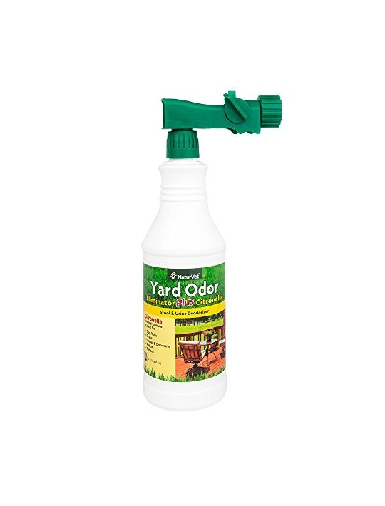NaturVet Yard Odor Eliminator Plus Citronella Stool & Odor Deodorizer 32Ounce