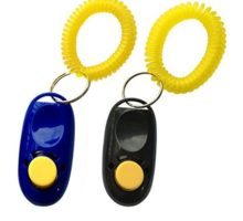 NewNewStar Pet Training Clicker with Wrist Strap Dog Training Clicker Black Blue