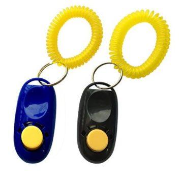 NewNewStar Pet Training Clicker with Wrist Strap Dog Training Clicker Black Blue