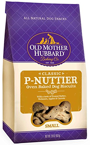 Old Mother Hubbard Classic Crunchy Natural Dog Treats PNuttier Small Biscuits 20Ounce Bag