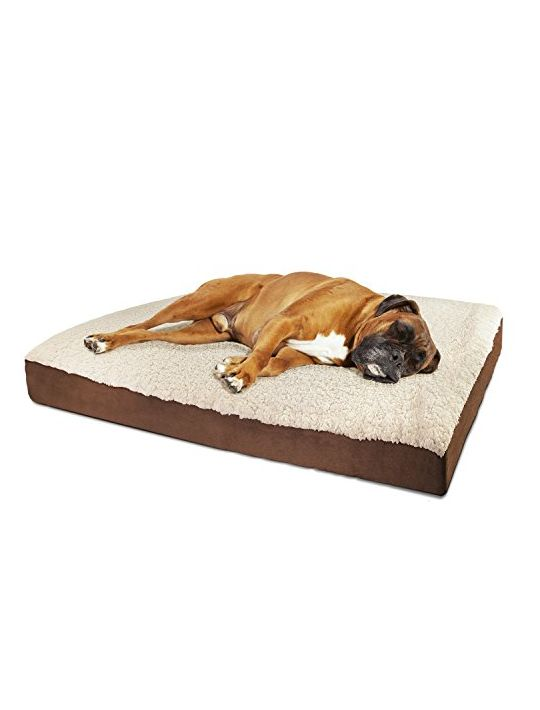 OxGord Orthopedic Pet Bed FoamMattress for Dogs & Cats  Quilted Rectangular Fits Crate Carrier  Large 35 Long x 27 Wide