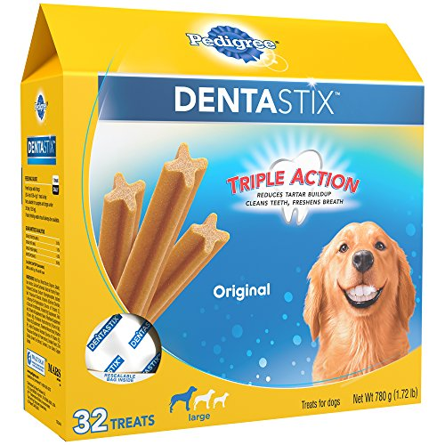 PEDIGREE DENTASTIX Large Dog Chew Treats Original 32 Treats