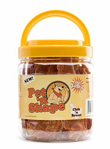 Pet 'n Shape  Chik 'n Breast  100Percent Natural Chicken Jerky Dog Treats 1Pound