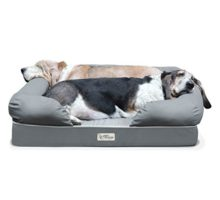 PetFusion Ultimate Solid 4″ Memory Foam Dog Bed for Medium & Large Dogs