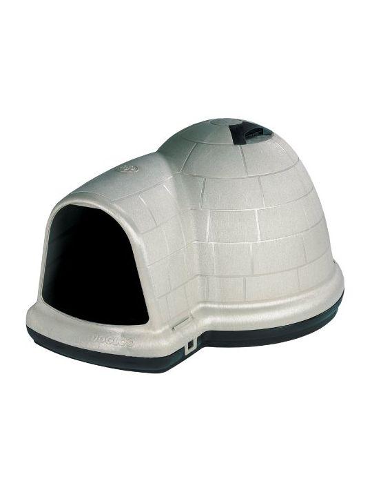 Petmate Indigo Dog House with Microban Large Taupe Top Black Bottom