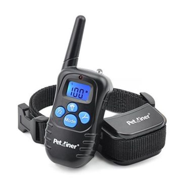 Petrainer PET998DRB1 Dog Training Collar Rechargeable and Rainproof 330 yd Remote Dog Shock Collar with Beep Vibra and Shock Electronic Collar