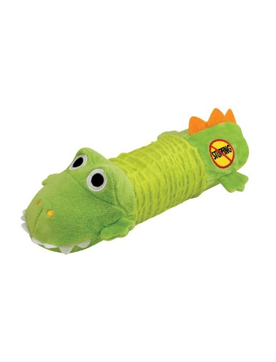 Stuffing Free Squeaking Plush Dog Toy Big Squeak Gator by Petstages