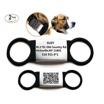 Sundesign Elastic Silicone Pet ID Tags  Cat and Dog ID Tags