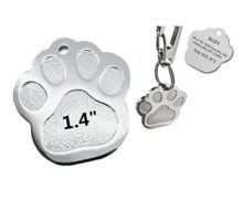 Sundesign Paw Print Stainless Steel Pet ID Tags  Dog and Cat ID Tags
