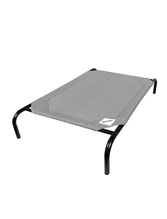 The Original Elevated Pet Bed By Coolaroo  Large Grey