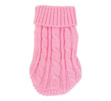 Uxcell Twisted Knit Ribbed Cuff Turtleneck Apparel Pet Sweater XXSmall Pink