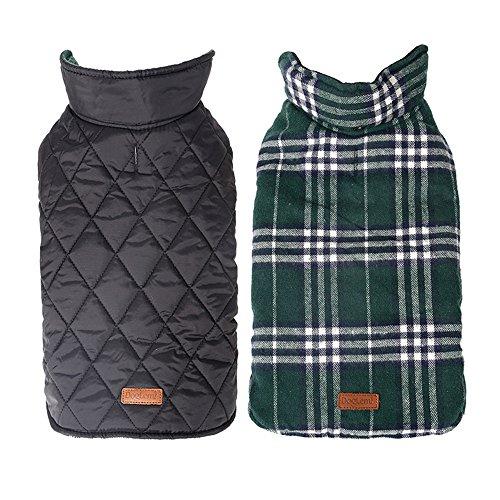 Waterproof Windproof Plaid Dog Vest Winter Coat Warm Dog Jacket Apparel for Cold Weather