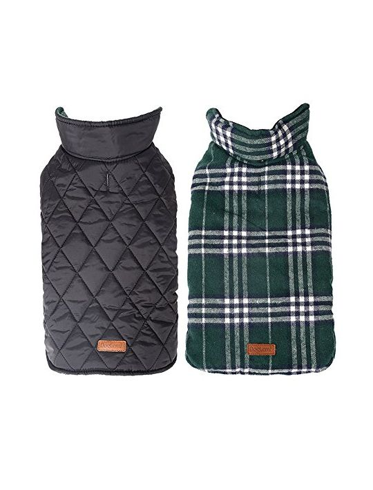 Waterproof Windproof Plaid Dog Vest Winter Coat Warm Dog Jacket Apparel for Cold Weather