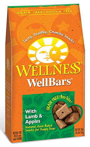 Wellness WellBars Crunchy Wheat Free Natural Dog Treats Lamb & Apple 20Ounce Box