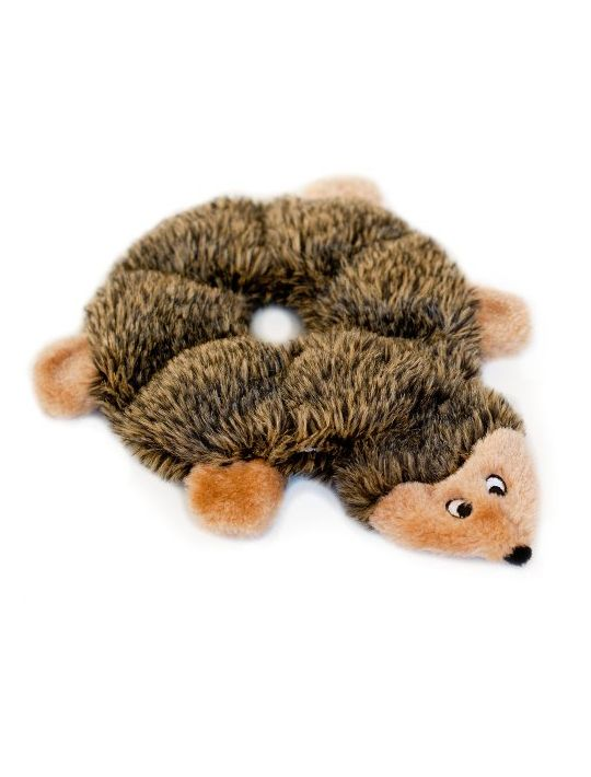 ZippyPaws Loopy 6Squeaker Plush Dog Toy Hedgehog