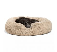 Best Friends by Sheri Donut Bed in Shag Taupe 30″x30″