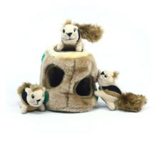Hide a Squirrel Fun Hide and Seek Interactive Puzzle Plush Dog Toy by Outward Hound 4 Piece Junior
