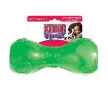 KONG Squeezz Dumbbell Dog Toy Large Colors Vary