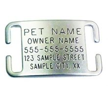 Pet ID Tags for Dog & Cat Collars  Personalized & Engraved Custom Identification Tag  Boomerang Tags  Silent Durable and Will Not Fall Off
