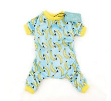 CuteBone Dog Pajamas Banana Dog Apparel Dog Jumpsuit Pet Clothes Pajamas P06(M)