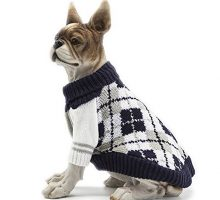 HAPEE Pet Clothes the Diamond Plaid Cat Dog Sweater  Dog Accessories Dog Apparel,Pet Sweatshirt
