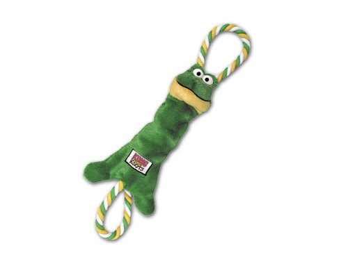 KONG Tugger Knots Frog Dog Toy Medium Large