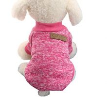 Mikey Store Pet Dog Clothes Soft Thickening Warm Stripe Polar Fleece Winter Clothes